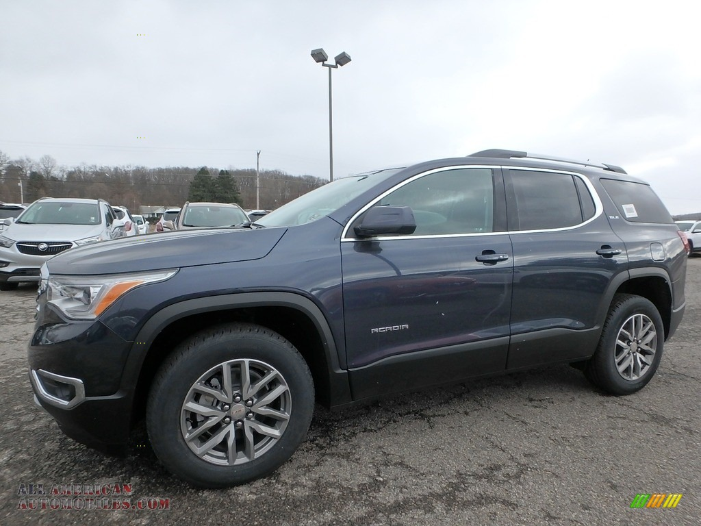 2019 Acadia SLE AWD - Blue Steel Metallic / Jet Black photo #1
