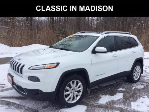Bright White 2015 Jeep Cherokee Limited 4x4