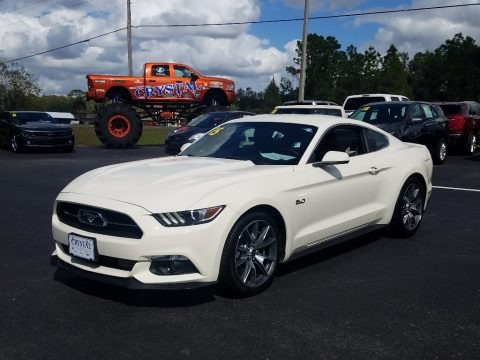 50th Anniversary Wimbledon White 2015 Ford Mustang 50th Anniversary GT Coupe