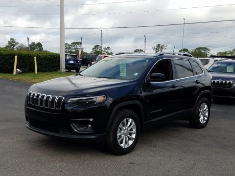 Diamond Black Crystal Pearl 2019 Jeep Cherokee Latitude 4x4