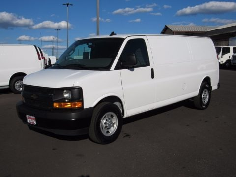 Summit White 2017 Chevrolet Express 2500 Cargo Extended WT