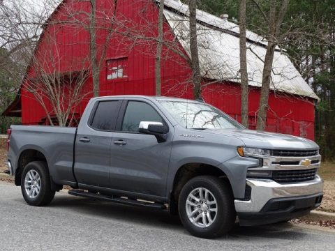 Satin Steel Metallic 2019 Chevrolet Silverado 1500 LT Double Cab