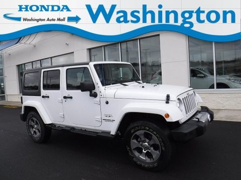 Bright White 2017 Jeep Wrangler Unlimited Sahara 4x4