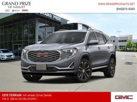 Satin Steel Metallic 2019 GMC Terrain Denali AWD