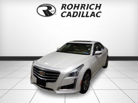 Crystal White Tricoat 2016 Cadillac CTS 2.0T Luxury AWD Sedan