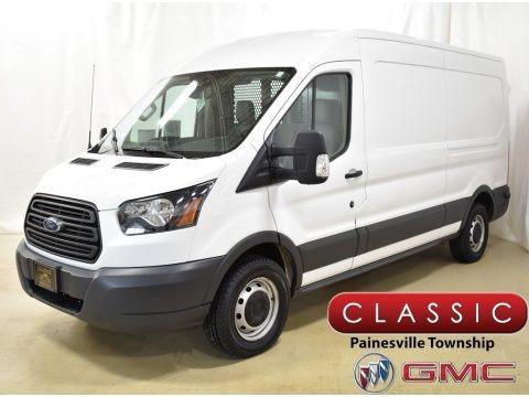 Oxford White 2015 Ford Transit Van 250 MR Long