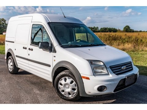 Frozen White 2010 Ford Transit Connect XLT Cargo Van