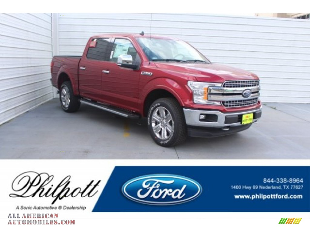 2019 F150 Lariat Sport SuperCrew 4x4 - Ruby Red / Earth Gray photo #1