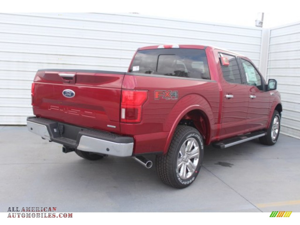 2019 F150 Lariat Sport SuperCrew 4x4 - Ruby Red / Earth Gray photo #8