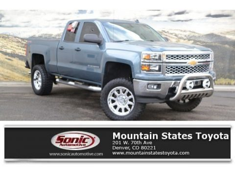 Blue Granite Metallic 2014 Chevrolet Silverado 1500 LT Double Cab 4x4