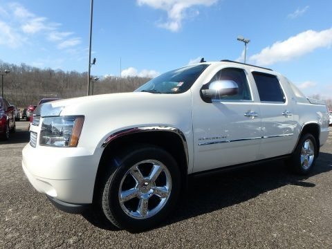 White Diamond Tricoat 2012 Chevrolet Avalanche LTZ 4x4