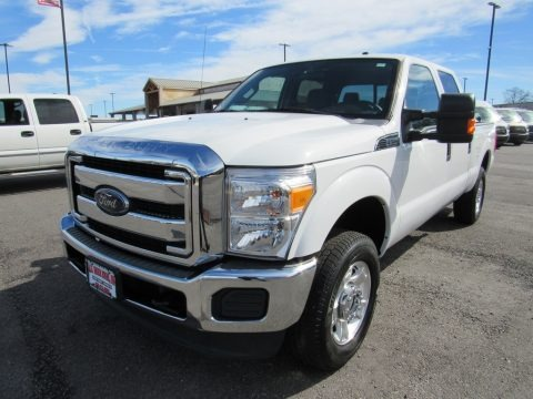 Oxford White 2015 Ford F250 Super Duty XLT Crew Cab 4x4
