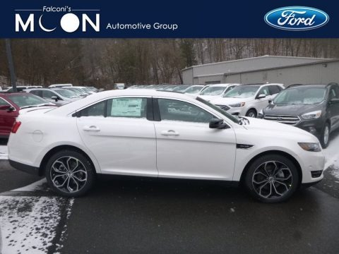 White Platinum 2019 Ford Taurus SHO AWD