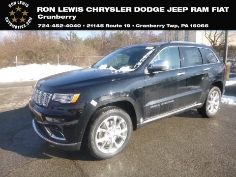 Diamond Black Crystal Pearl 2019 Jeep Grand Cherokee Summit 4x4