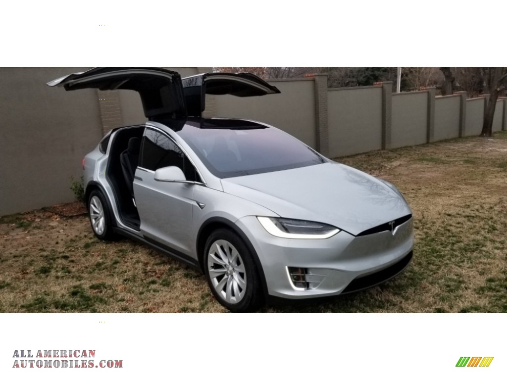 2018 Model X 100D - Silver Metallic / Black photo #1