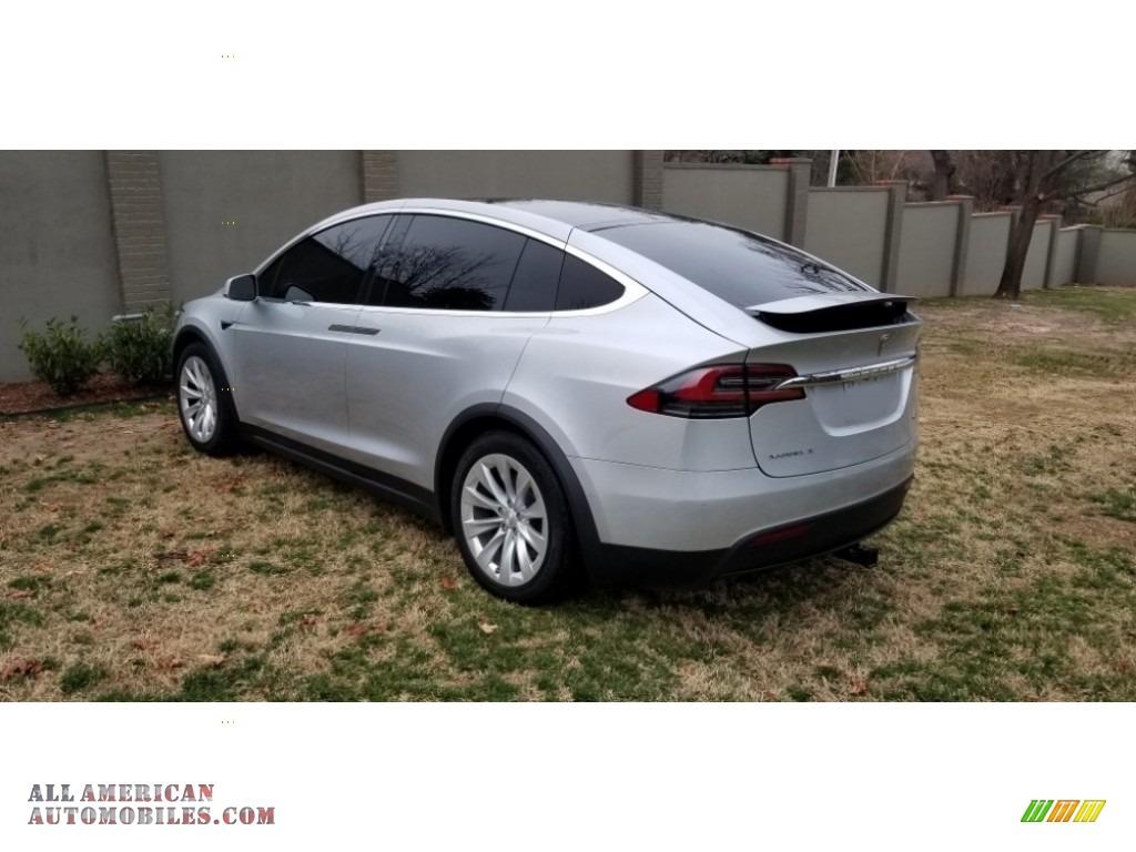 2018 Model X 100D - Silver Metallic / Black photo #13