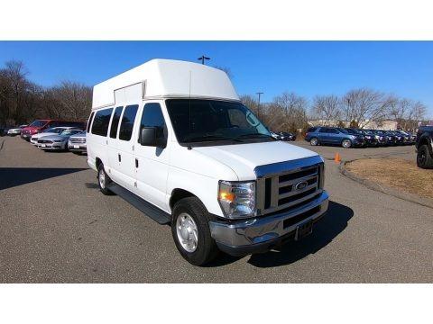 Oxford White 2014 Ford E-Series Van E350 XL Extended 15 Passenger Van