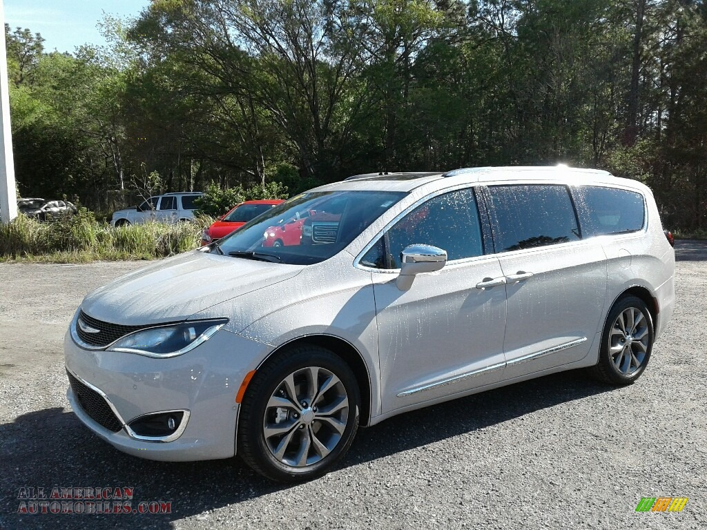2019 Pacifica Limited - Luxury White Pearl / Deep Mocha/Black photo #1