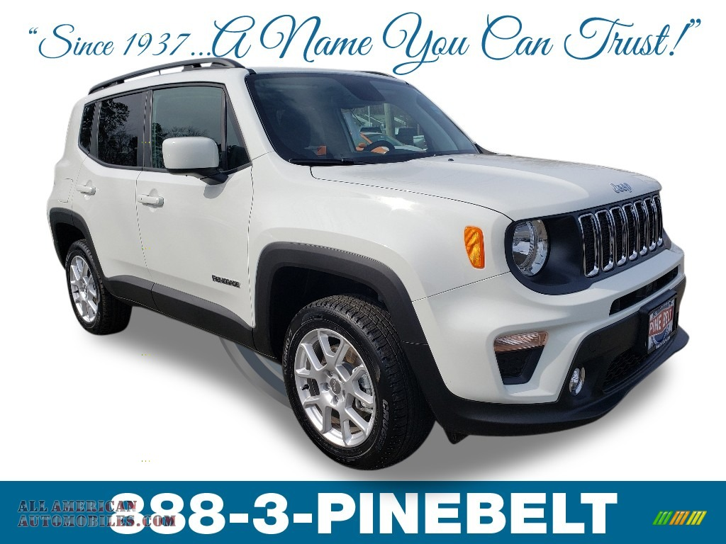 2019 Renegade Latitude 4x4 - Alpine White / Black photo #1