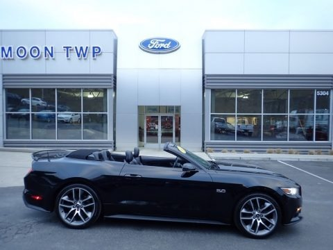 Shadow Black 2017 Ford Mustang GT Premium Convertible