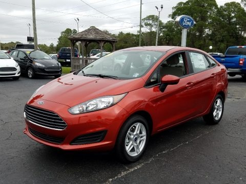 Hot Pepper Red 2019 Ford Fiesta SE Sedan