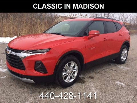Red Hot 2019 Chevrolet Blazer 3.6L Leather AWD