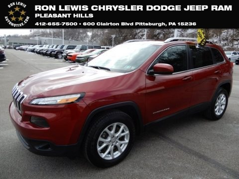 Deep Cherry Red Crystal Pearl 2016 Jeep Cherokee Latitude 4x4