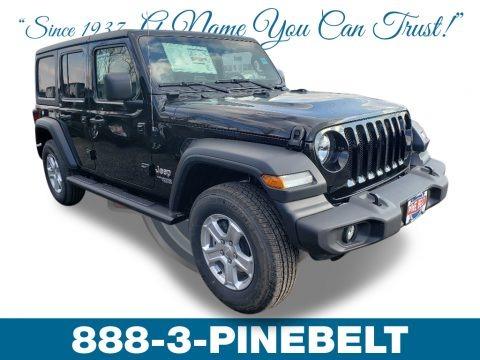 Black 2019 Jeep Wrangler Unlimited Sport 4x4