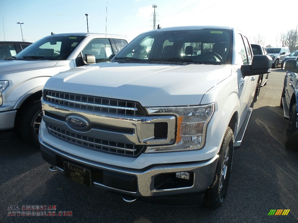 2019 F150 XLT Sport SuperCrew 4x4 - Oxford White / Earth Gray photo #1