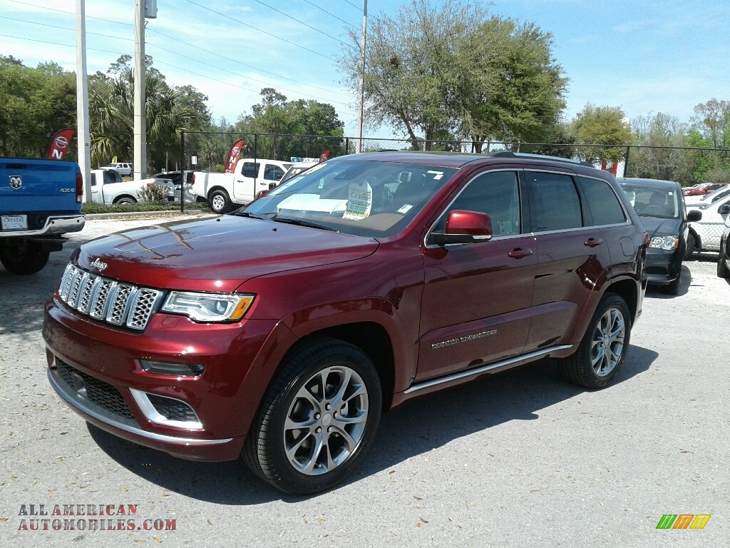 Velvet Red Pearl / Black/Dark Sienna Brown Jeep Grand Cherokee Summit 4x4