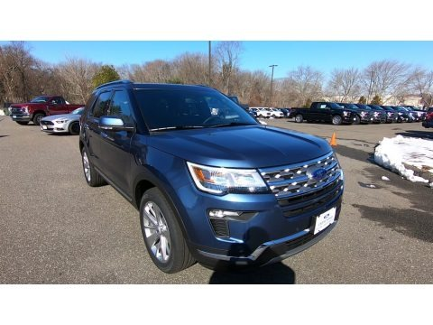 Blue Metallic 2019 Ford Explorer Limited 4WD