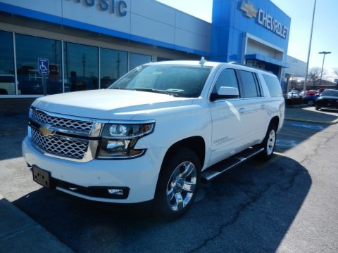 Summit White 2019 Chevrolet Suburban LT 4WD