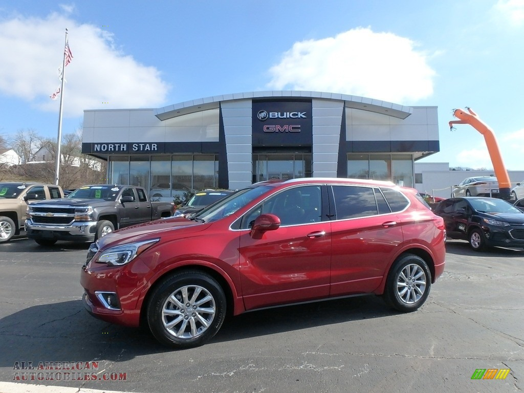 2019 Envision Essence AWD - Chili Red Metallic / Ebony photo #1