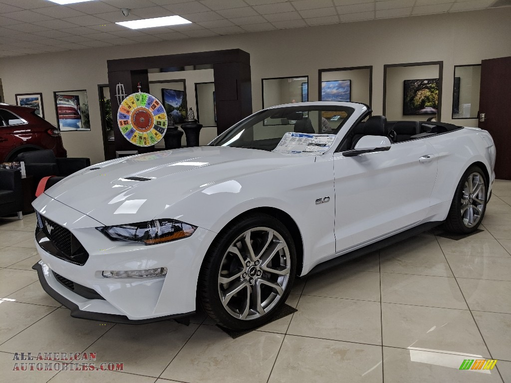 2019 Mustang GT Premium Convertible - Oxford White / Ebony photo #1
