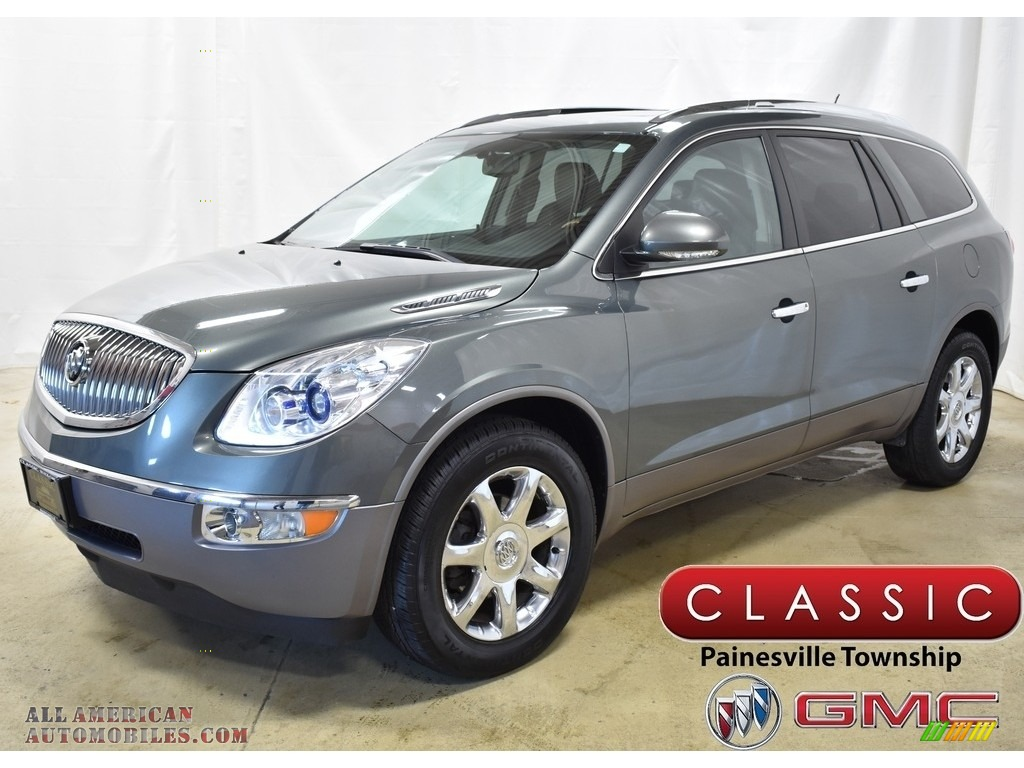 2010 Enclave CXL - Gray Green Metallic / Ebony/Ebony photo #1