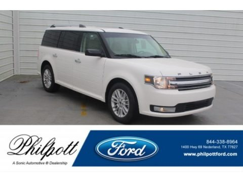 White Platinum 2019 Ford Flex SEL