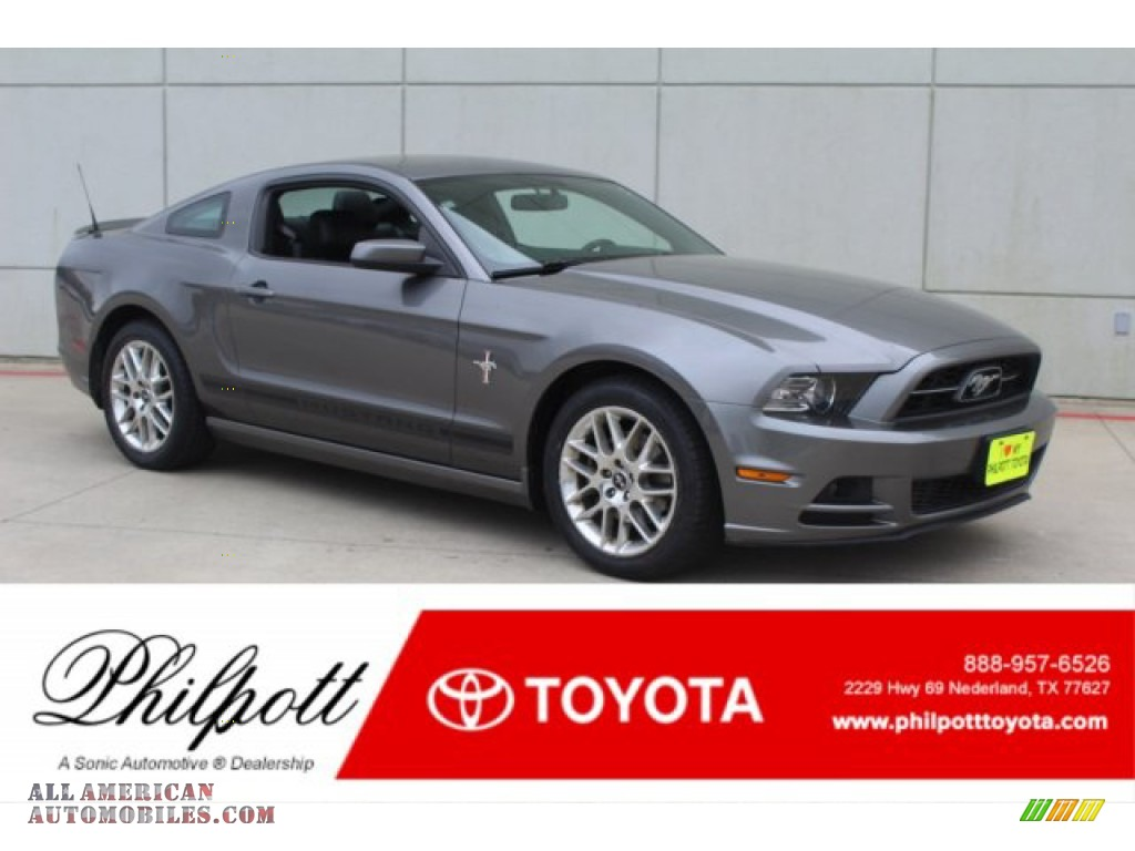 2014 Mustang V6 Premium Coupe - Sterling Gray / Charcoal Black photo #1