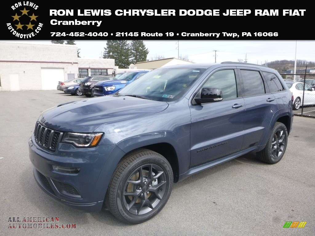 2019 Grand Cherokee Limited 4x4 - Slate Blue Pearl / Black photo #1