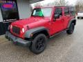 Jeep Wrangler Unlimited X 4x4 Flame Red photo #1