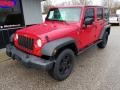 Jeep Wrangler Unlimited X 4x4 Flame Red photo #9