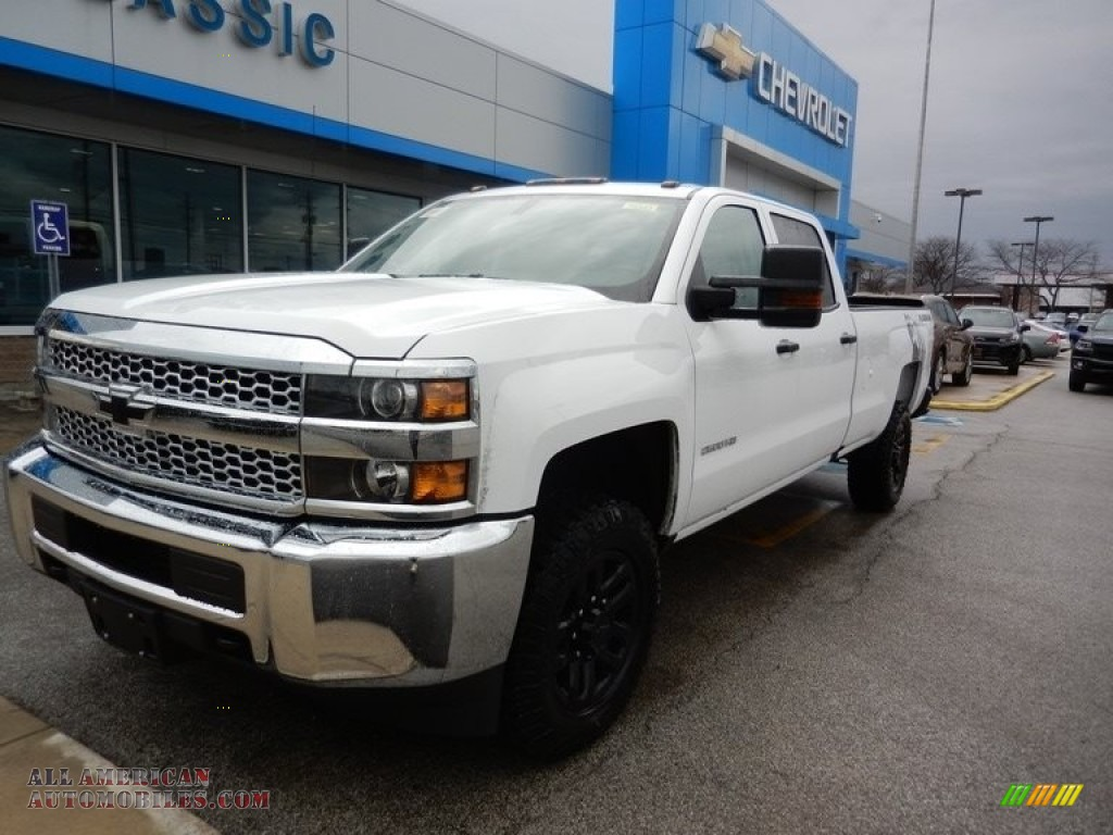 Summit White / Dark Ash/Jet Black Chevrolet Silverado 2500HD Work Truck Crew Cab 4WD