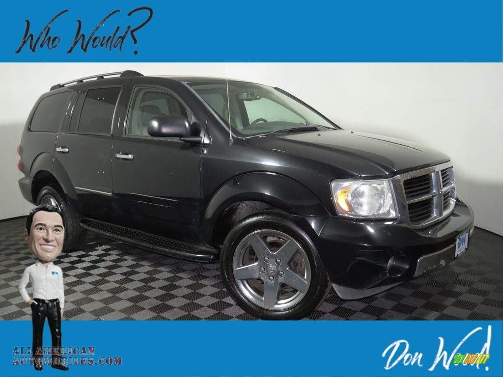 2008 Durango Limited 4x4 - Brilliant Black / Dark/Light Slate Gray photo #1