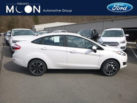 Oxford White 2019 Ford Fiesta SE Sedan