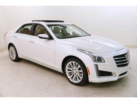 Crystal White Tricoat 2015 Cadillac CTS 2.0T Luxury AWD Sedan