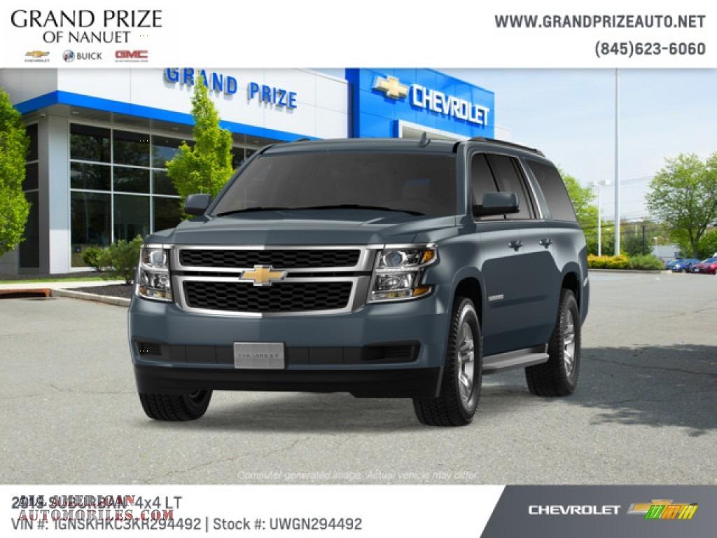 Shadow Gray Metallic / Jet Black Chevrolet Suburban LT 4WD
