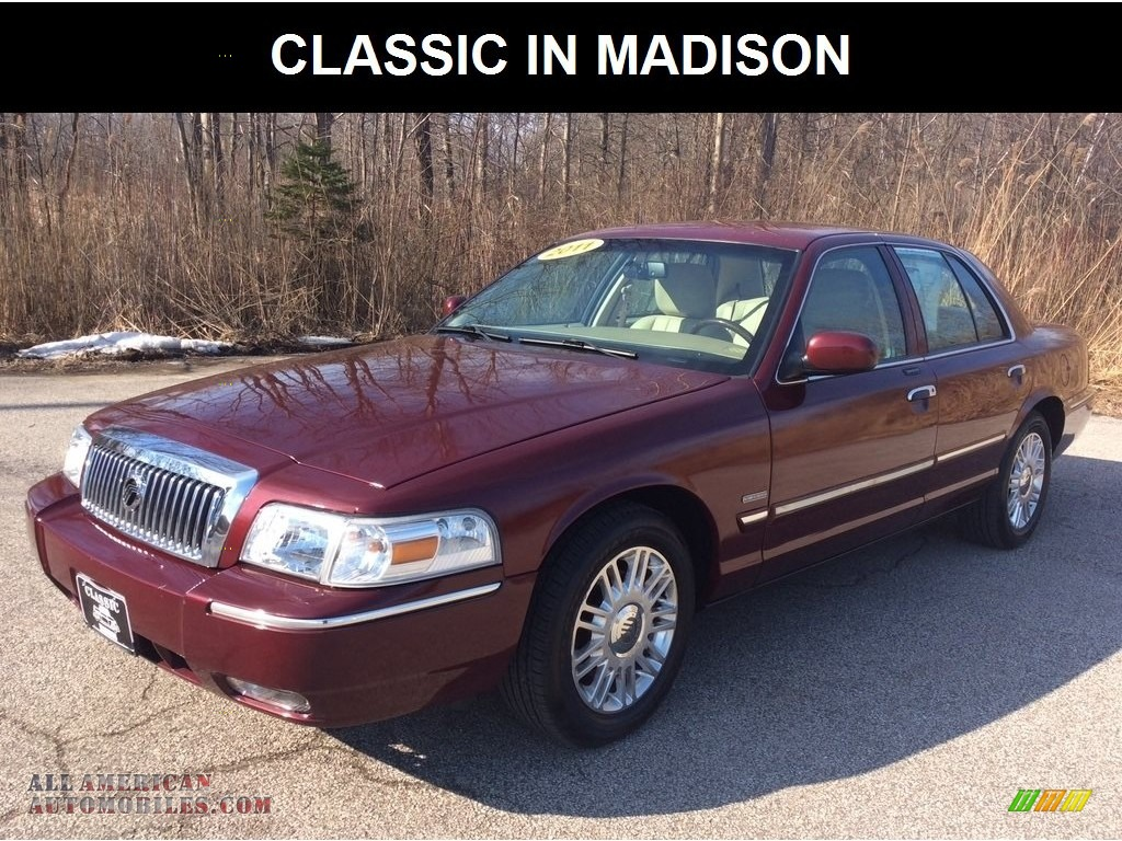 2011 Grand Marquis LS Ultimate Edition - Dark Toreador Red Metallic / Light Camel photo #1
