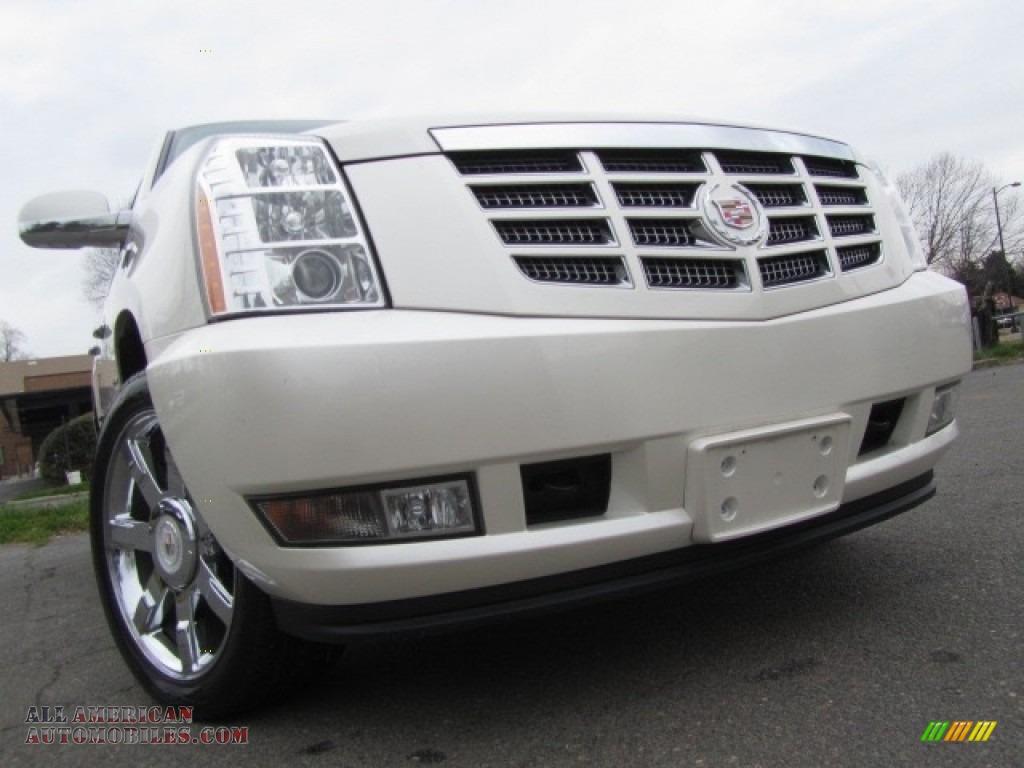 2012 Escalade Luxury AWD - White Diamond Tricoat / Cashmere/Cocoa photo #1