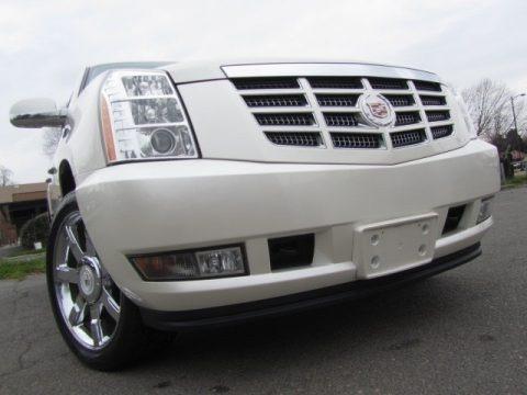 White Diamond Tricoat 2012 Cadillac Escalade Luxury AWD