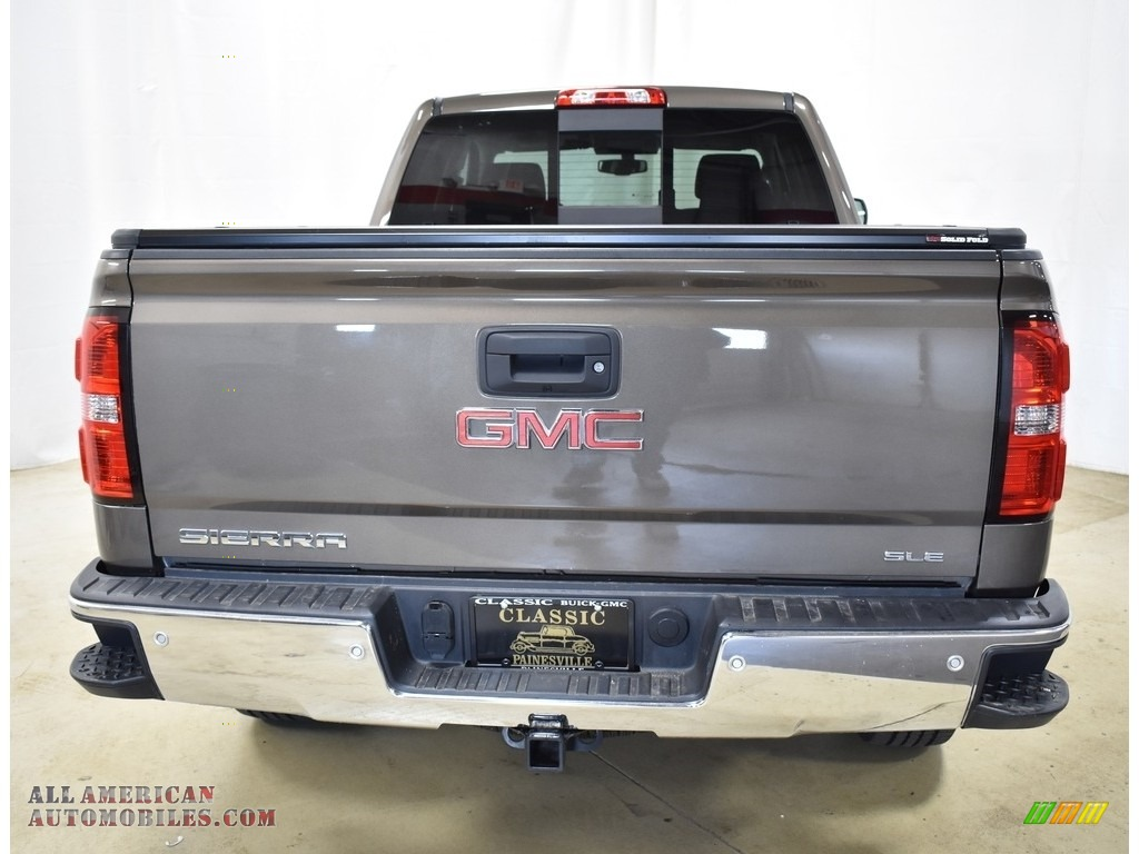 2015 Sierra 1500 SLE Double Cab 4x4 - Bronze Alloy Metallic / Jet Black photo #3