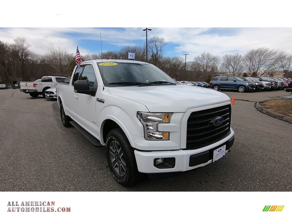 2016 F150 XLT SuperCab 4x4 - Oxford White / Medium Earth Gray photo #1